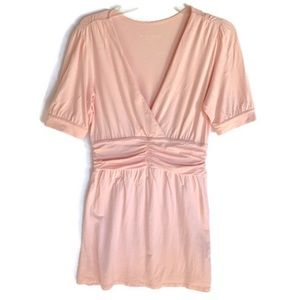 Soft Surroundings Pink Dress Size Small Low Cut